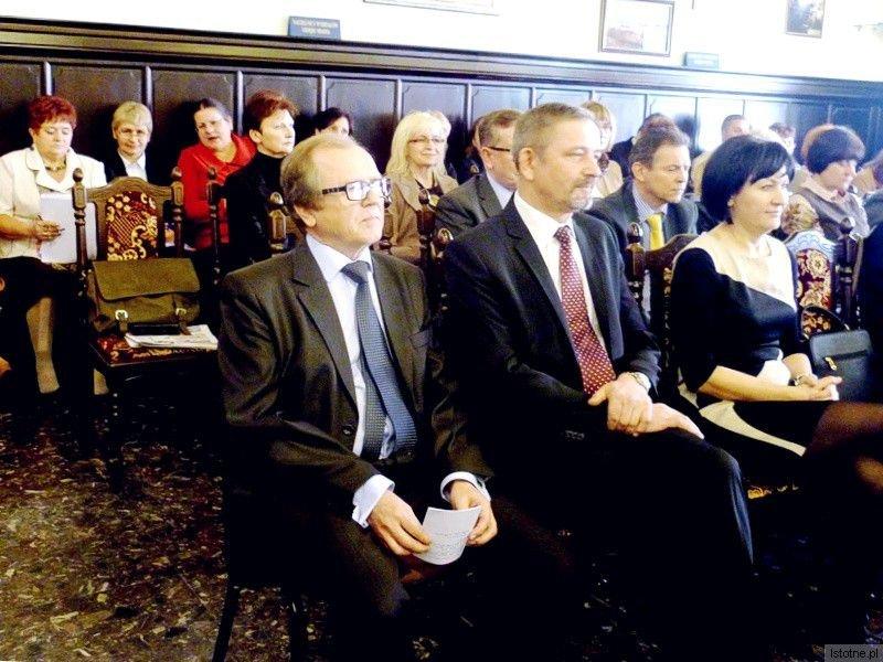W pierwszym rzędzie: Józef Król, Ludwik Kaziów i Ewa Lijewska-Małachowska