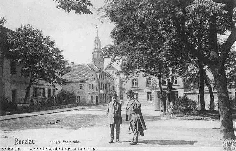 Karta pocztowa z 1908 roku. Po lewej stronie widzimy budynek Muzeum Ceramiki przed przebudową