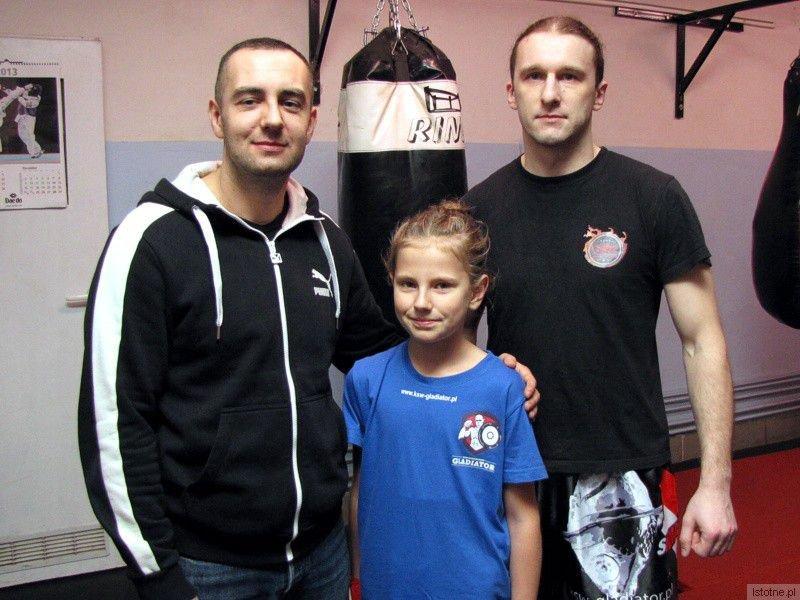 Przemysław Grecki, Oliwia Ziembikiewicz i trener Grzegorz Nazar