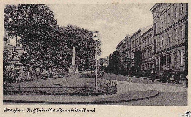 Pomnik Kutuzowa w przedwojennym Bolesławcu (lata 20. XX wieku)
