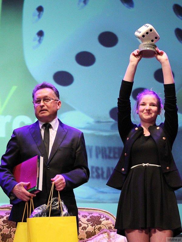 Mirosław Sakowski i Dominika Czubak, zdobywczyni pierwszego miejsca