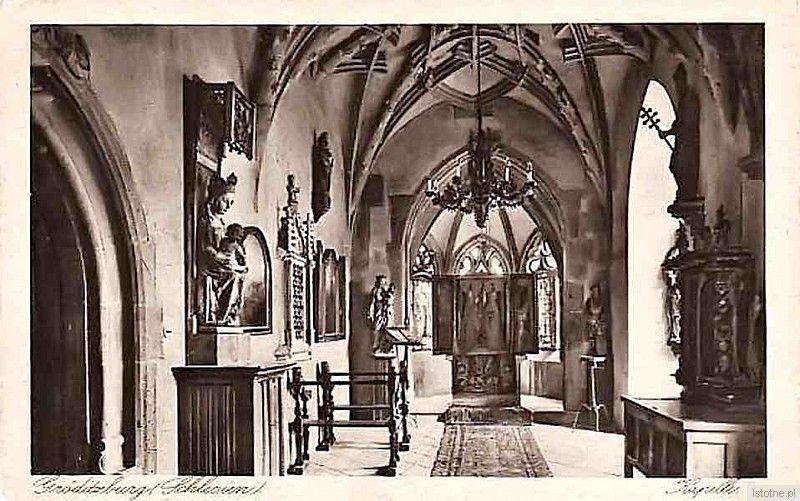 Kaplica zamkowa w latach 20. XX wieku