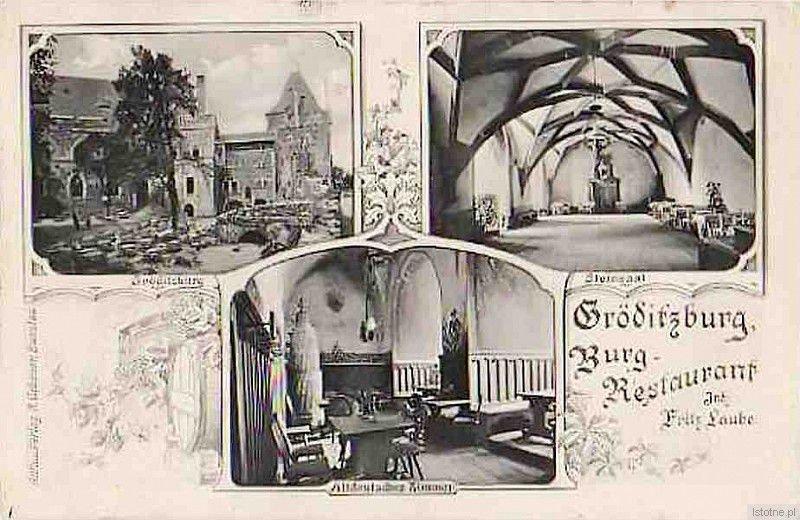Pamiątkowa pocztówka z restauracji zamkowej