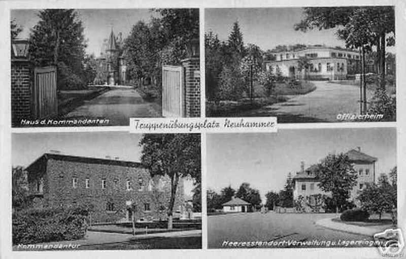 Budynki garnizonowe w Świętoszowie w 1940 roku