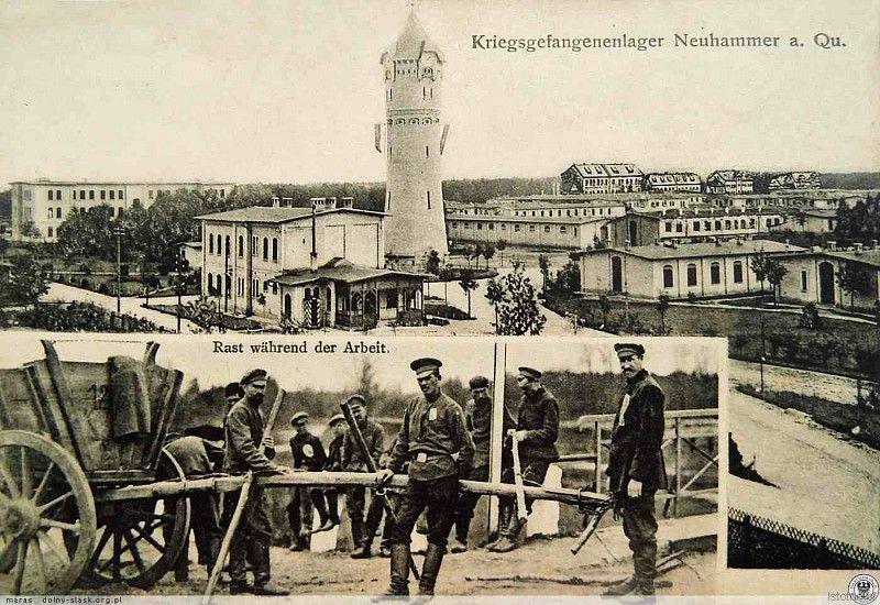 Jeńcy w obozie w 1915 roku