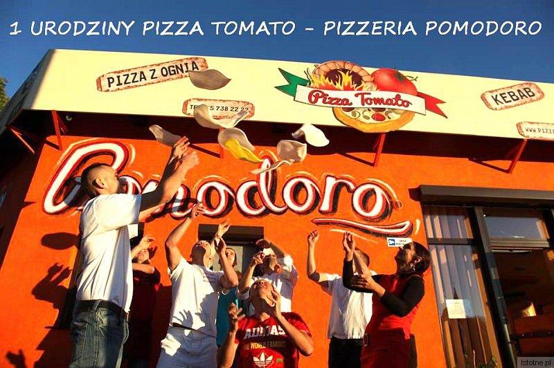 1 Urodziny Pizza Tomato - Pizzeria Pomodoro