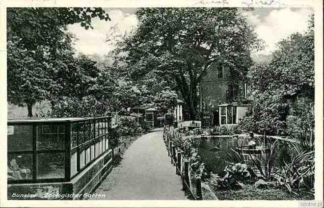 Karta pocztowa ukazująca ogród zoologiczny w 1935 roku