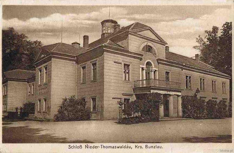 Pałac w Tomaszowie Bolesławieckim w latach 30. XX wieku