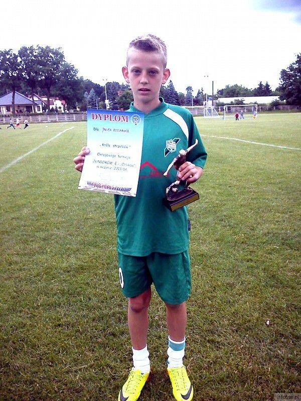 Jakub Rissmann - otrzymał wyróżnienie dla najlepszego strzelca turnieju (6 bramek)