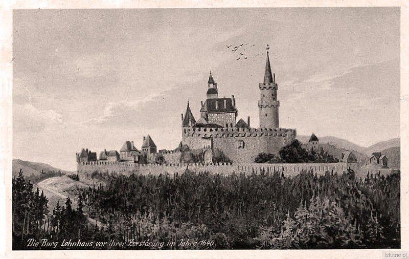 Fotografia prezentuje przypuszczalny wygląd zamku w 1640 roku