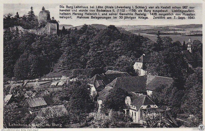 Pocztówka z krótką historią zamku
