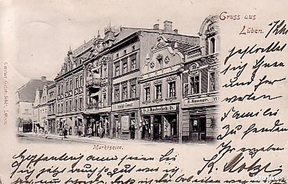 Fragment lubińskiego rynku w 1900 r.