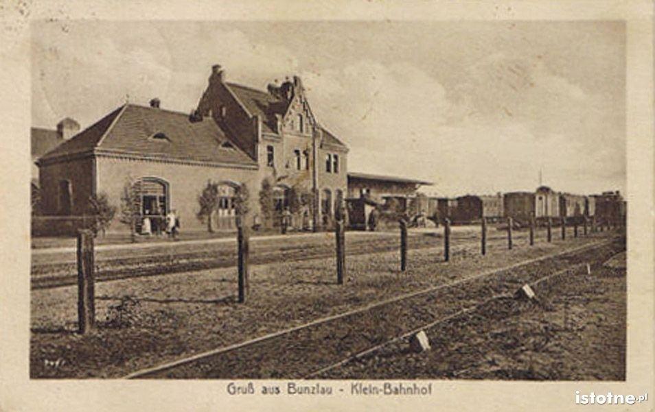 Stacja kolejowa w dawnym dworcu wschodnim w latach 20. XX w.
