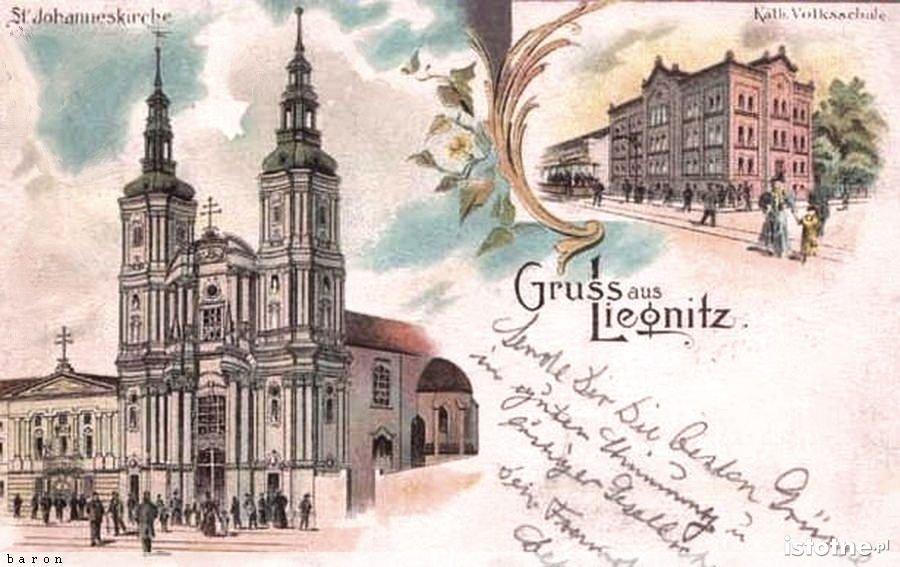 Pozdrowienia z Legnicy wysłane na początku XX w.