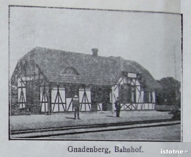 Dworzec w Godnowie (obecnie część administracyjna Kruszyna)