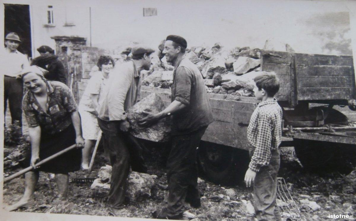 Odgruzowywanie Kruszyna w latach 60.