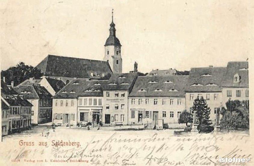 Rynek w Zawidowie pod koniec XIX w.
