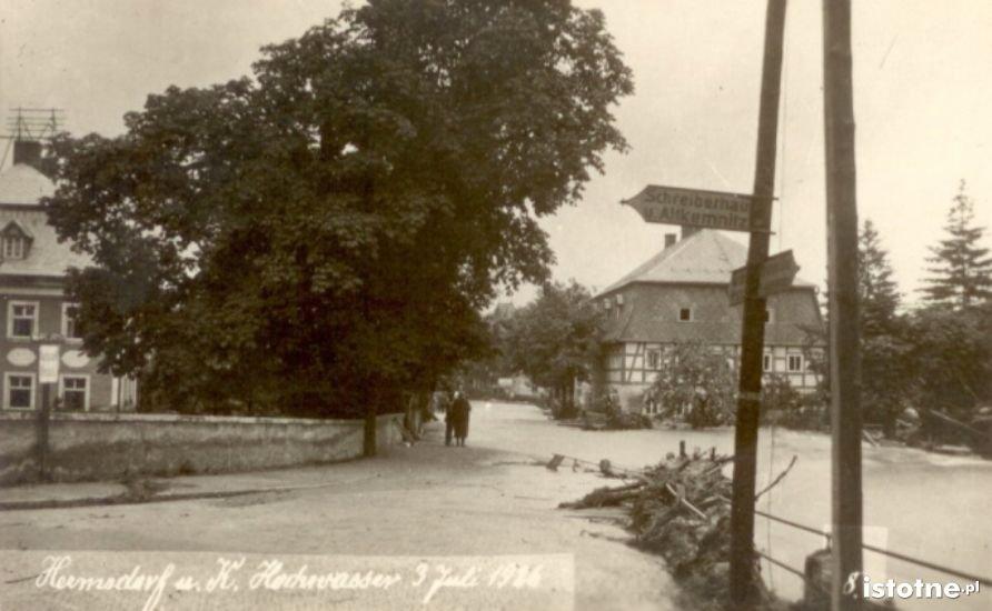 Powódź na ulicy – 3 lipca 1926 r.