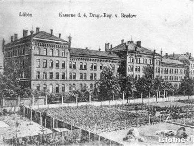 Koszary wojskowe w 1907 roku
