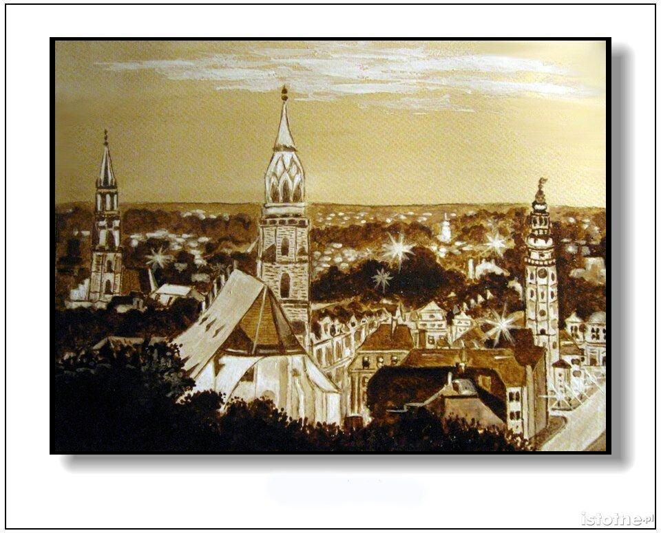 Bolesławiec kawą malowany