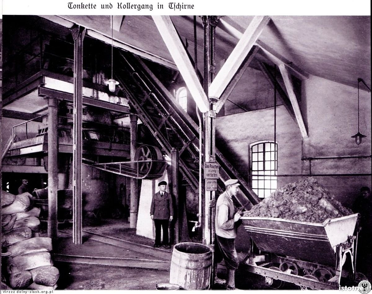 Wnętrze zakładów Sturma w Czernej na początku lat 30. XX wieku