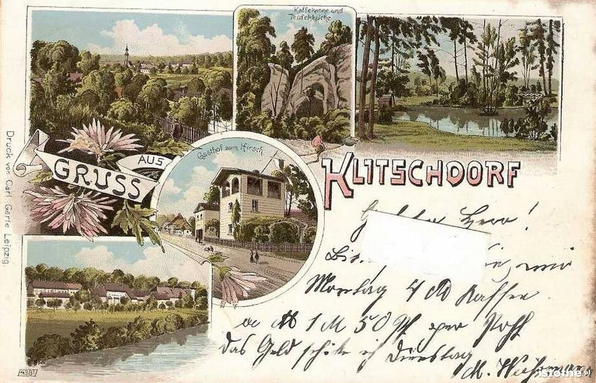 Kliczków na litografii z początku XX w.