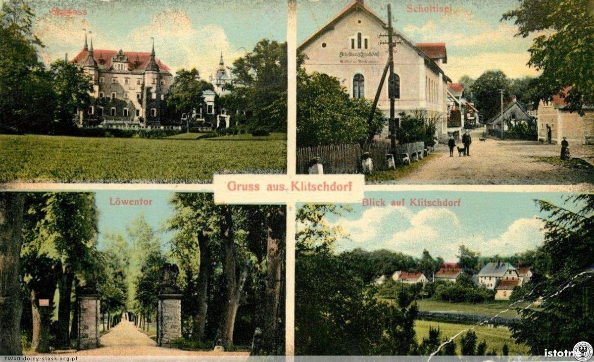 Pocztówka z Kliczkowa wykonana w latach 20. XX w.