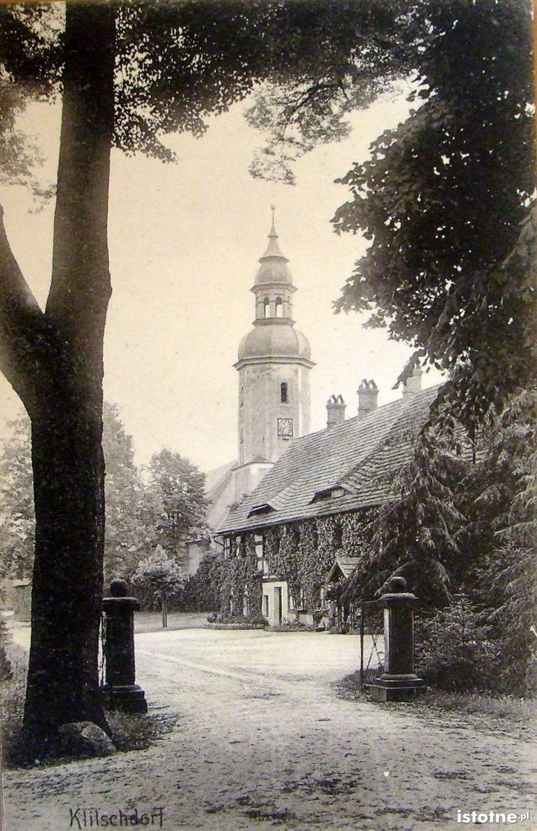 Kościół w Kliczkowie w 1915 r.