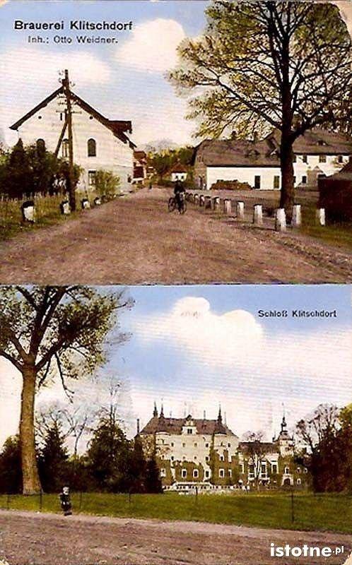 Na pocztówce z początku XX w. zaprezentowano browar i zamek