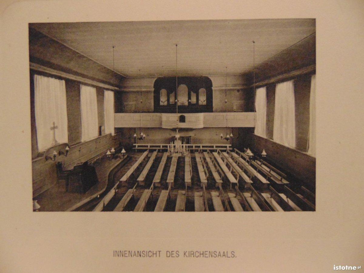 Wnętrze kościoła w 1910 r.