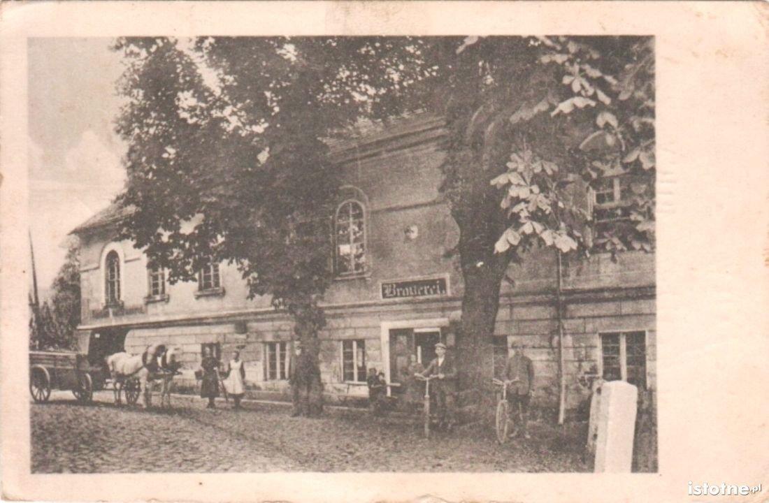 Budynek browaru w połowie lat 20. XX w.
