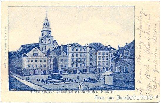 Pomnik w XIX w. na bolesławieckim Rynku