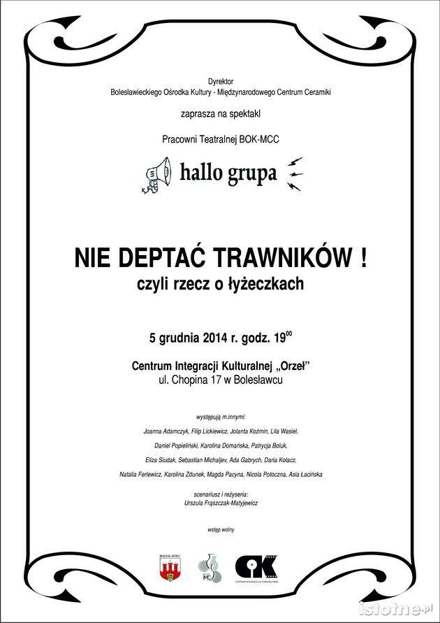 Plakat spektaklu U. Frąszczak-Matyjewicz