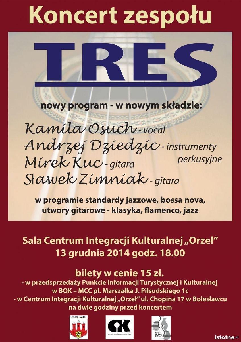 Plakat zespołu Tres