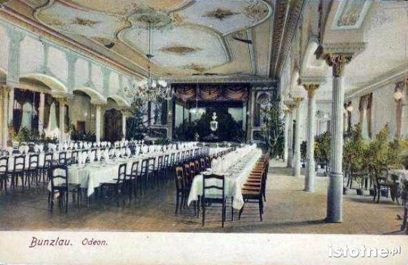 Wnętrze sali na początku XX wieku