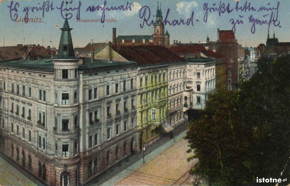 Ulica Chojnowska na początku XX wieku