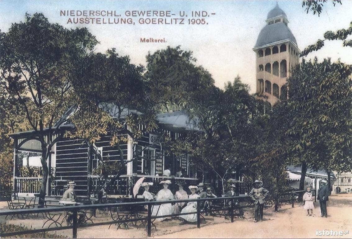 Fragment wystawy na pocztówce z 1905 roku