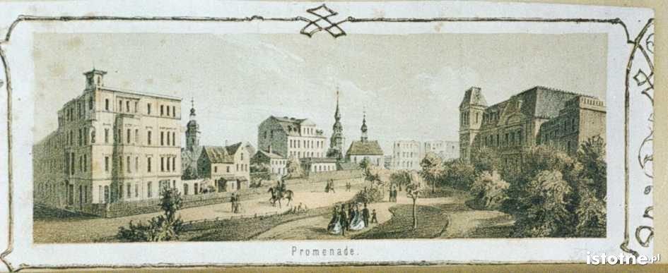 Ulica Bankowa w 1870 roku