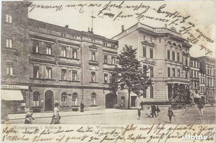 Kamienice przy ulicy Bankowej w 1915 r.