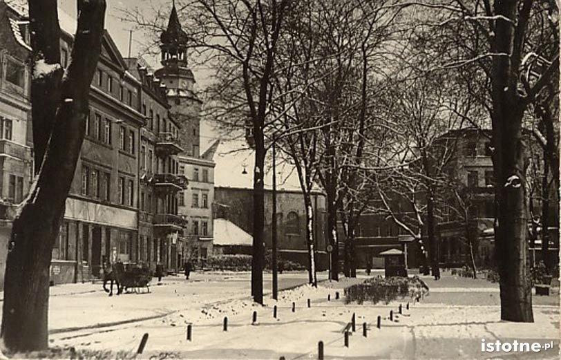 Widok na wieżę Wojanowską w latach 40. XX w.
