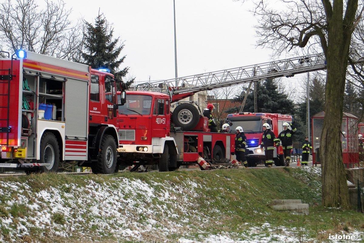 Pożar budynku w Tomaszowie Bolesławieckim