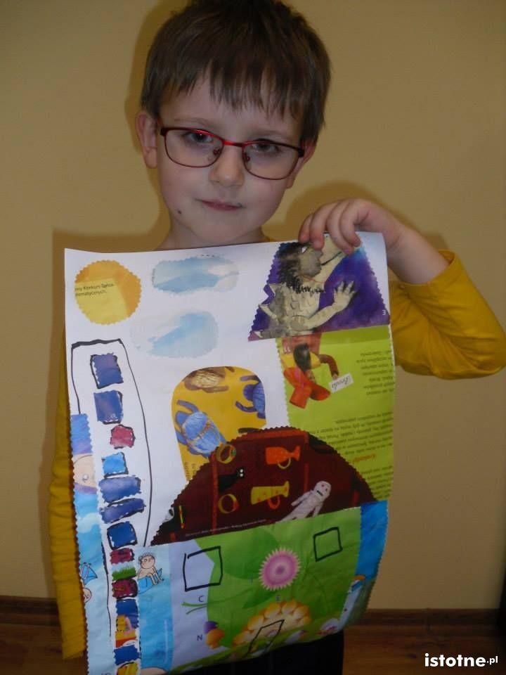 Prace dzieci z zajęć plastycznych w DL w Kraśniku Dolnym