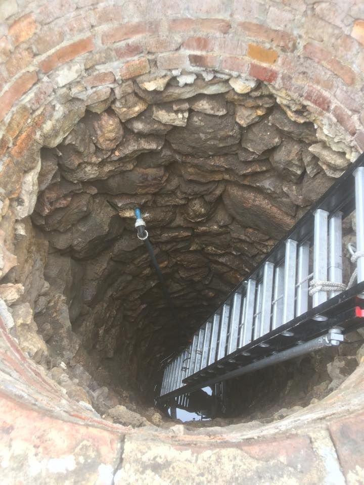 Drabina w studni