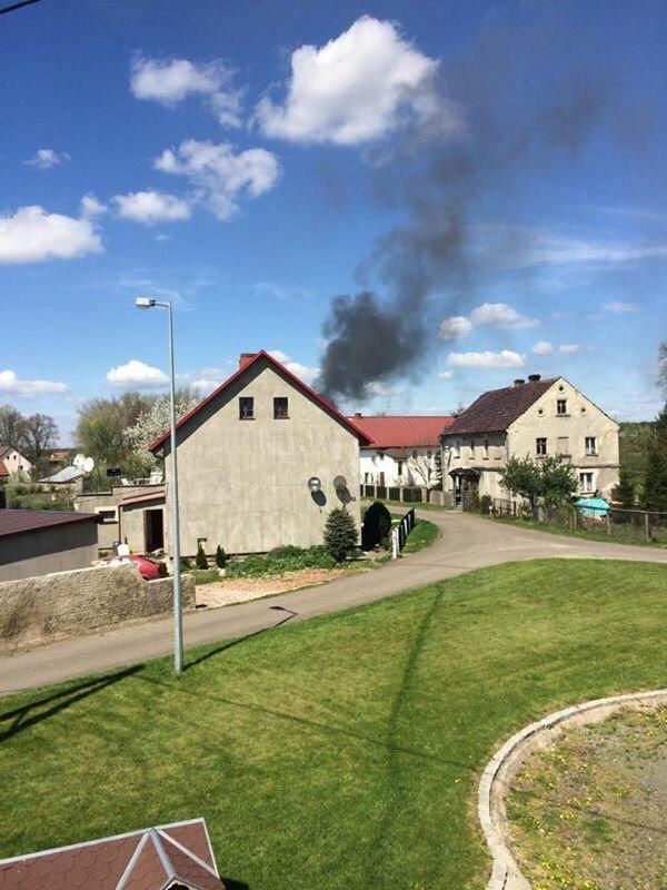 Pożar fermy w Kraśniku Dolnym