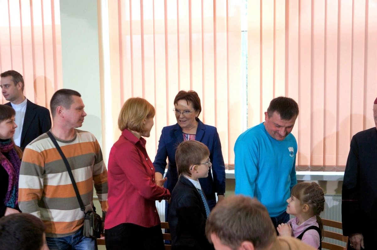 Wizyta premier Ewy Kopacz w ośrodku Rybaki