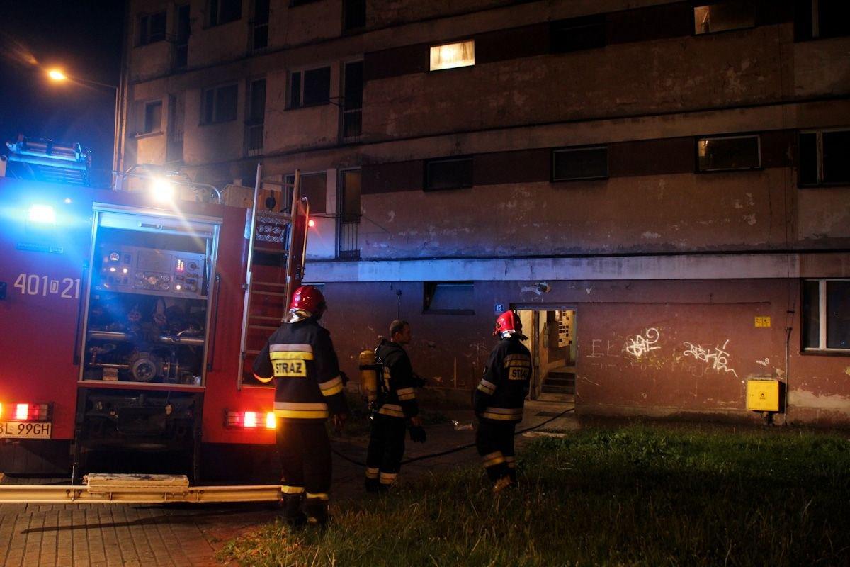 Pożar w mieszkaniu przy ul. Żwirki i Wigury