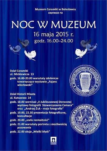 Noc Muzeów w Bolesławcu plakat