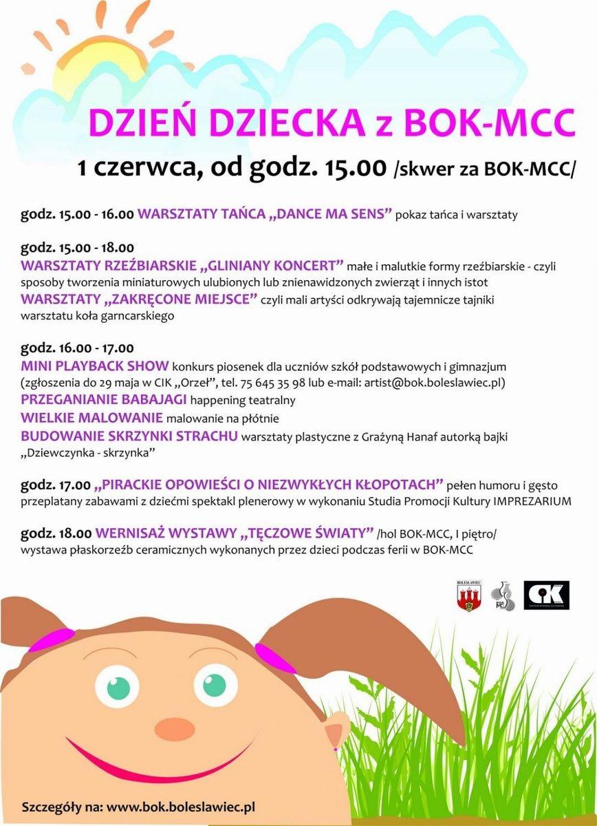 Plakat Dzień Dziecka z BOK-MCC