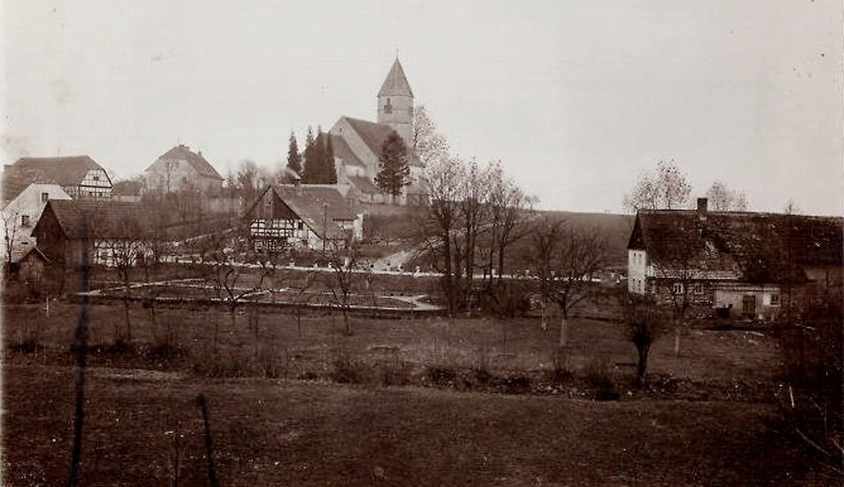Kościół katolicki pod wezwaniem św. Michała Archanioła na początku XX wieku