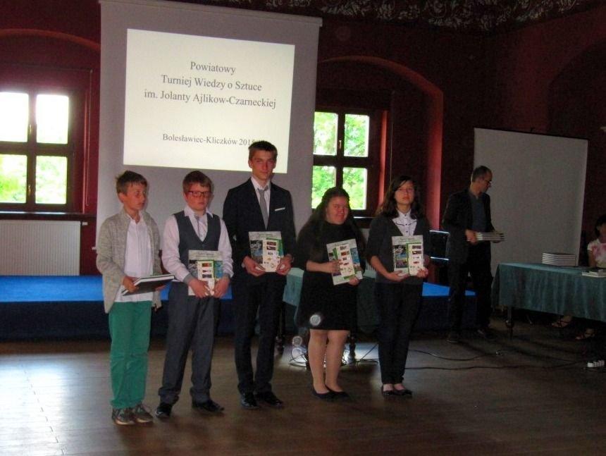 Laureaci Powiatowego Turnieju Wiedzy o Sztuce